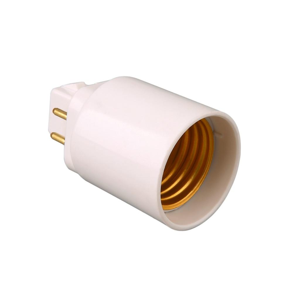 LED Light Lamp Adapter GX24Q To E27 Bulb Holder Socket Converter 4 Pin Screw-based Lamp Extender Base Socket