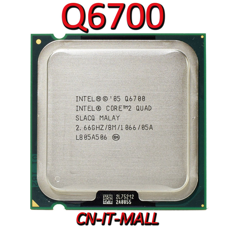 <font><b>Intel</b></font> Core <font><b>Q6700</b></font> CPU 2.66G 8M 4 Core 4 Thread LGA775 Processor image