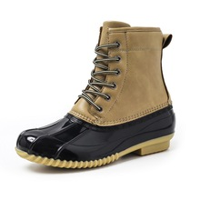 2019 Women Boots Winter Ankle Leather Waterproof Warm Snow Non-slip Outdoor Hot Selling