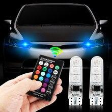 RGB T10 W5W Led Colorido Modo Multi Car Light Lâmpadas para GAZ para VESTA niva lada kalina granta priora largus vaz samara 2110