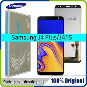 100% Original 6.0'' LCD For Samsung Galaxy J4+ 2018 J4 Plus J415 J415F J410 LCD Display Touch Screen Sensor+Service package