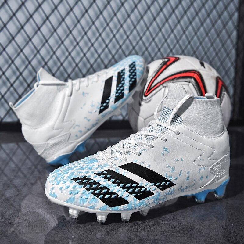 Botas De Fútbol De Tobillo Alto Para Hombre, Zapatillas De Fútbol Antideslizantes FG/TF, Calzado Ultraligero De Adiestramiento Al Aire Libre, Nuevas