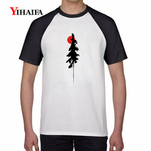 2019 Newest Summer 3D Print T Shirts Sun Tree Graphic Tees Men Women White Cotton T-Shirt Simple Unisex Casual Tops 3d print t shirts colorful forest tree graphic tees men women white cotton t shirt unisex casual tops summer shirts