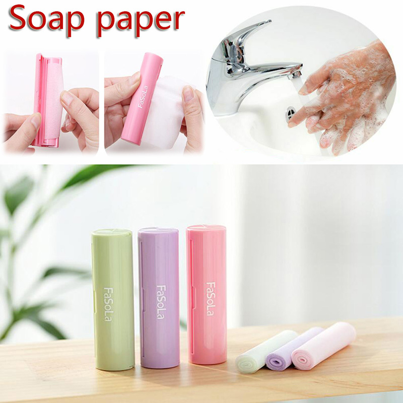 Portable Hand Wash Paper Soap Pull Type Antibacterial Home Outdoor Scented Slice Sheet Skin Care Soap Disposable Mini Soap Paper