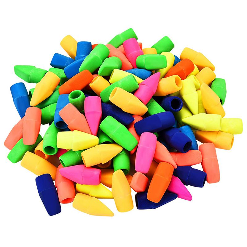 200 Pieces Pencil Eraser Caps Pencils Top Erasers For Kids Students Learning