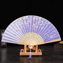 Silk Fan Chinese Japanese Style Folding Fan Home Decoration Ornaments Pattern Art Craft Gift Wedding Dance Hand Fan printio metallica fan art