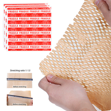 50M Overseas Wrapping Paper Kraft Honeycomb Cushioning Paper Gift Packing Roll Wedding Birthday Party Packaging Craft Paper