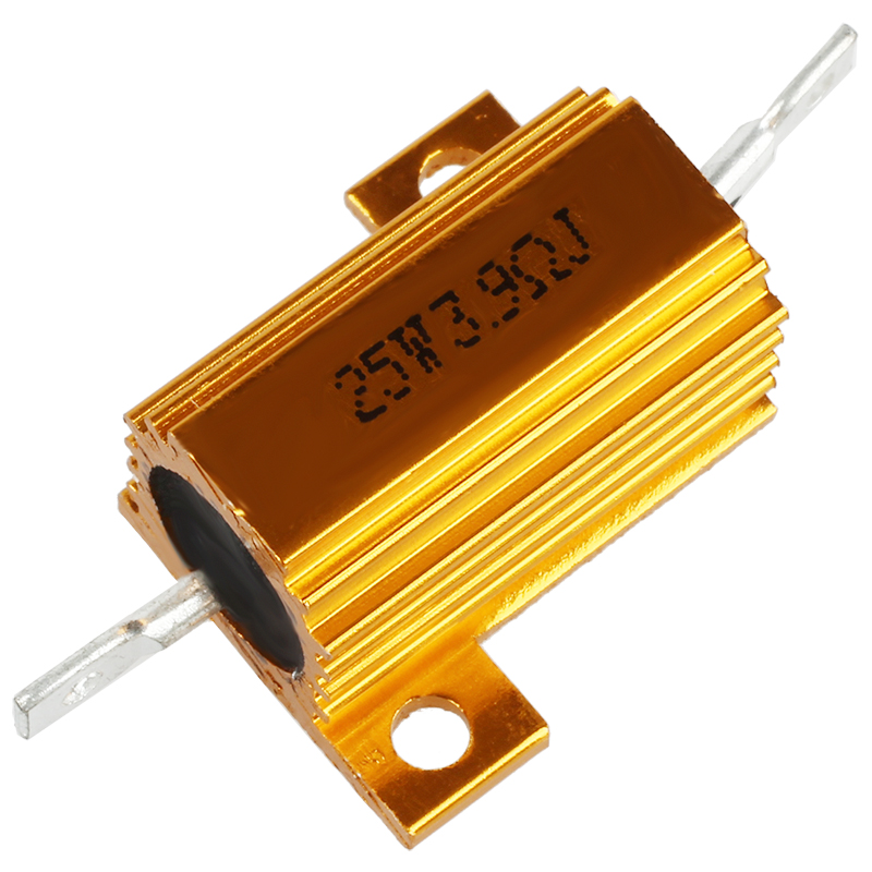 US Stock 2x 390 ohm 390 100W Watt Aluminum Housed Metal Case Wirewound Resistors
