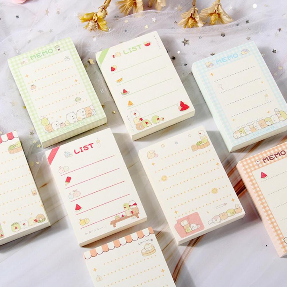 Cute Cartoon Kawaii Sumikko Gurashi Loose Leaf Memo Pad Notes Planner To Do List School Supply Gift Stationeryy