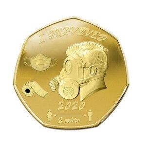 2020 überlebenden Gedenkmünze doppelseitige Gedenkmünze Alt Metall Geschenk Souvenir Münzen Nicht-währung Münzen Tropfen/schiff