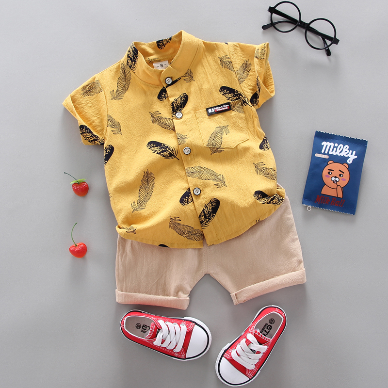 Boy Clothing Casual  Baby Girl's Summer Clothes   Set Sports shirt+ Shorts Suits  Clothes Cotton products Kids clothes 4