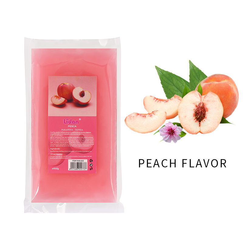 Lidan 450g rosa pesca limone lavanda odore paraffina cera bagno strumento per Nail Art per unghie mani maschera bagno di paraffina cura della pelle 4