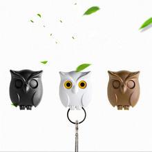 Мигающие крючки для ключей с совой креативный мультяшный настенный