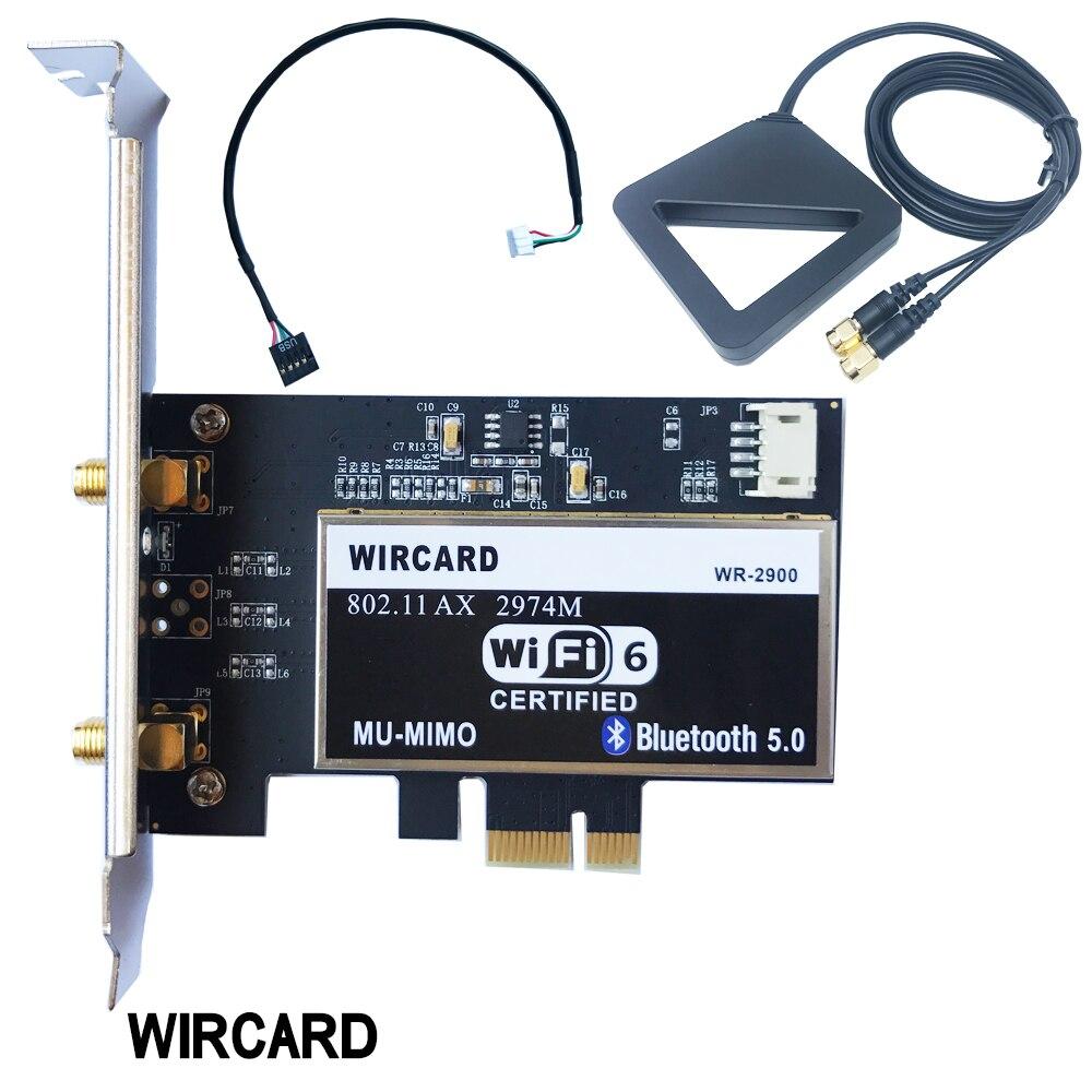 Double bande 2400Mbps sans fil wifi carte réseau adaptateur avec Wi-Fi 6 Intel AX200 NGW avec 802.11 ac/ax BT 5.0 pour bureau
