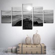 5 шт горы под солнцем черный и белый цвет тонирование декоративный