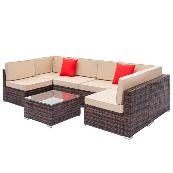 Rattan Sofa Set with Coffee Table 3