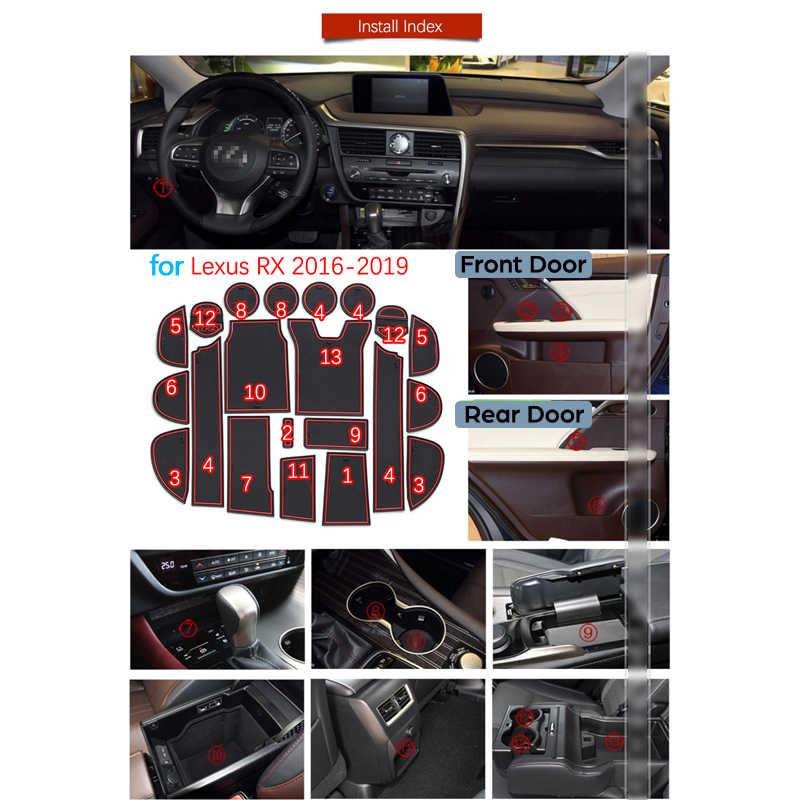 Anti-Slip Karet Gate Slot Mat Mat untuk Lexus RX 300 200 T 450 H RX200t RX300 RX450h 2016 2017 2018 2019 Aksesoris Stiker