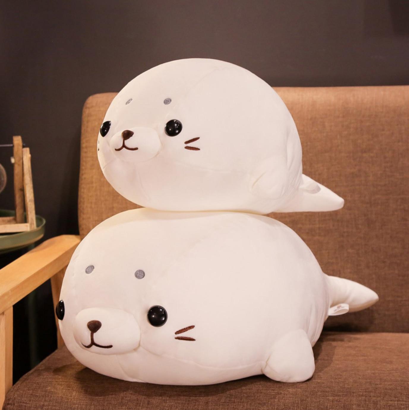Kawaii 50/60cm Seal Soft Down Cotton Lying Seal Plush Toy Stuffed Animal Doll Toys For Kid Girl Pillow Home Decor Birthday Gifts