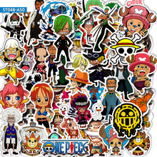 50pcs Anime Luffy ONE PIECE Stickers for DIY Mobile Phone Laptop Luggage Suitcase Skateboard Fixed Gear Decal