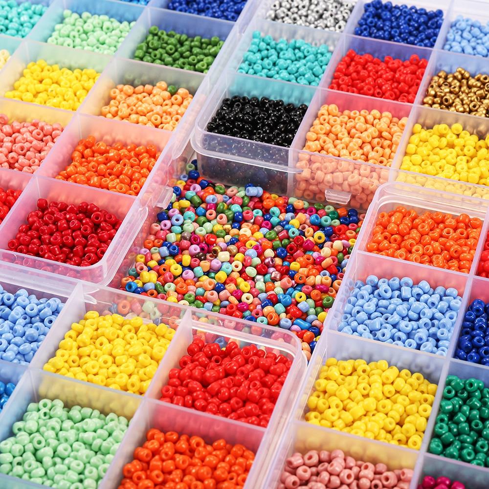 3 мм набор шармов из стеклянных бусин, круглые бусины для DIY браслета, ожерелья, аксессуары для изготовления ювелирных изделий, 18 цветов, 9000 ш...