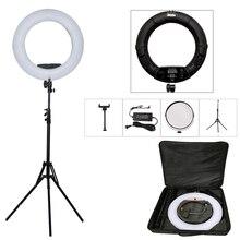 Yidoblo czarny FD 480II obręcz LED zestaw bi color 96w lampa leddo smartfona wideo lampa pierścieniowa lampa z lekki statyw torba Makeup Led prawo