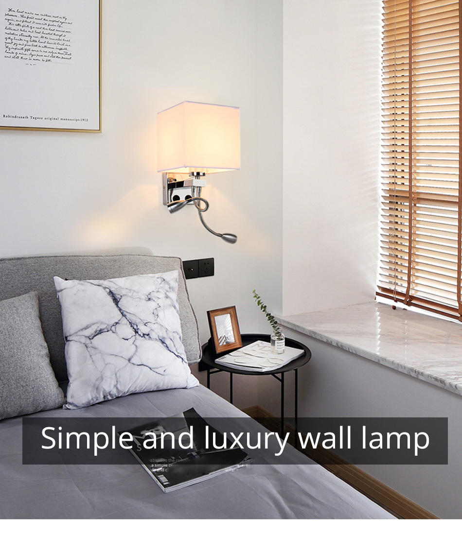 Wall Lamp Sconce Switch Stairs Light Luminaires Fixture E27 Bulb Bedroom Decor Bathroom Modern Bedside Lighting Wall Mounted (12)