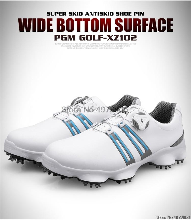 Homem automático knob sapatos de golfe homem