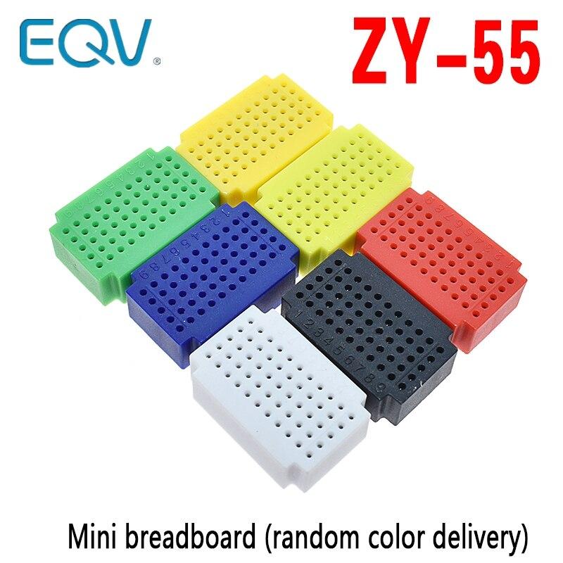 ZY-55 pontos solderless pcb tábua de pão mini teste universal protoboard diy placa pão para arduino lego