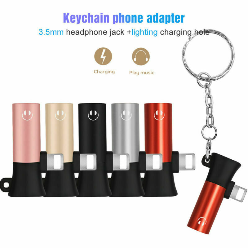 For Apple 3.5mm Jack Earphone Adapter For IPhone X 8 7 Plus XS MAX XR AUX Headphone Charging Listening Connector Adapter
