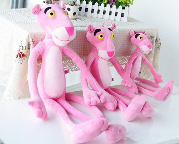 Baby Toys Plaything Cute Naughty Pink Panther Plush Stuffed Doll Toy Home Decor 40CM 100% Cotton Plush Wall Stuff