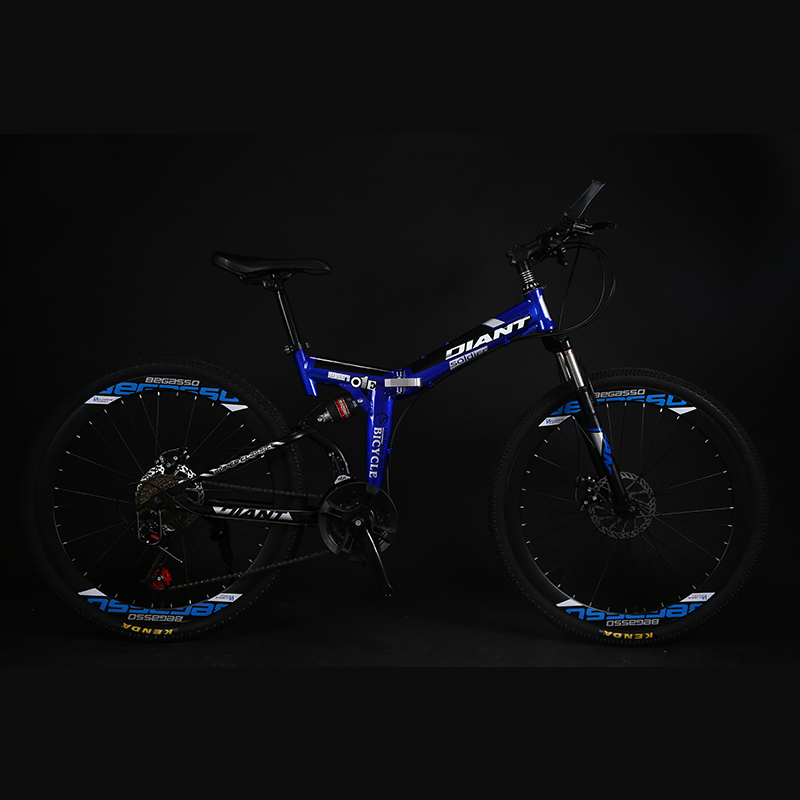 Folding Bicycle 26 Inch 40 Knife Double Damping Mountain Bike 21/24/27 Speed Men And Women Students Adult