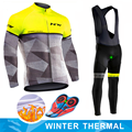 Northwave 2019 Winter thermal fleece Cycling Clothes NW men's Jersey suit outdoor riding bike MTB clothing warm Bib Pants set