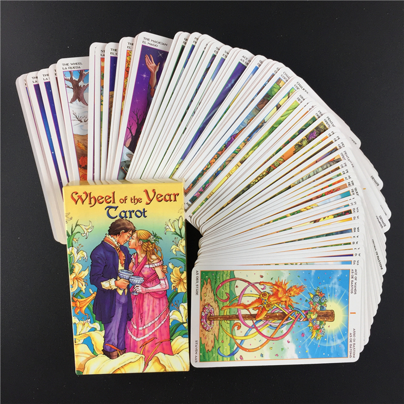 2020 Hot Wheel Of The Year Tarot Read Fate Tarot Card Game For Personal Use Board Game