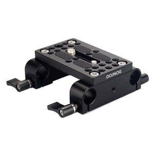 Image 5 - Piastra di montaggio per treppiede con piastra di montaggio a sgancio rapido per fotocamera con morsetto per asta da 15mm per supporto asta DSLR Rig per fotocamera