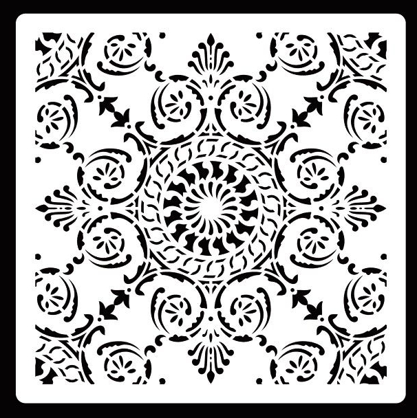 30 * 30cm Diy Craft Mandala Mold For Painting Stencils Stamped Photo Album Embossed Paper Card On Wood, Fabric,wall,Floor,