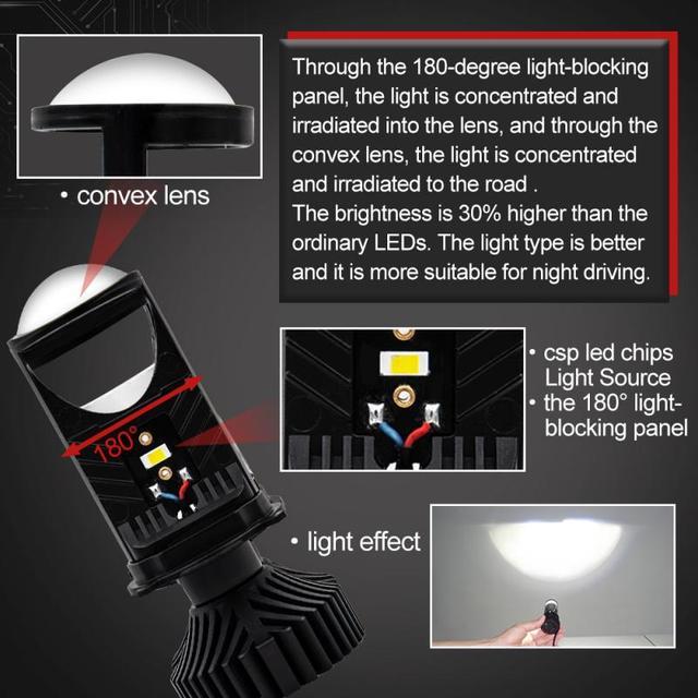 T9LED Canbus Car Headlights Bulb LED H4 H7 H1 H3 H11 H13 H27 880 HB3 HB4 9004 9007 8000Lm Ice COB 6500K 4500K Auto Fog Light 1