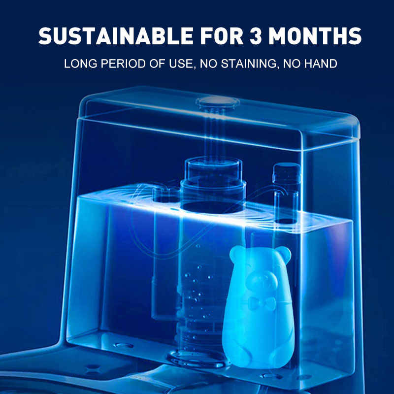 Автоматический промывочный супер средства для чистки туалетов медведь синие пузыри, для унитаза очиститель дезодорант туалет сокровище домашний освежитель воздуха