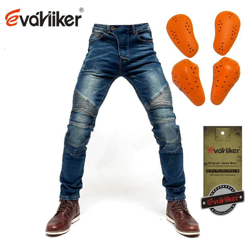 skinny jeans Motorcycle Jeans Fashion Men Women Black or blue motorcycle blue Jeans Motorcycle Racing Slim Pants With Pads