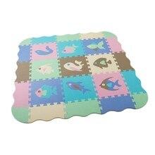 25 pçs eva espuma quebra-cabeça esteiras esteira do jogo do bebê com cerca bloqueio piso de espuma telhas crianças quebra-cabeça esteira do bebê rastejando esteira