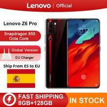 """המקורי גלובלי גרסת Lenovo Z6 Pro Snapdragon 855 אוקטה Core 6.39 """"FHD תצוגת Smartphone אחורי 48MP Quad מצלמות"""