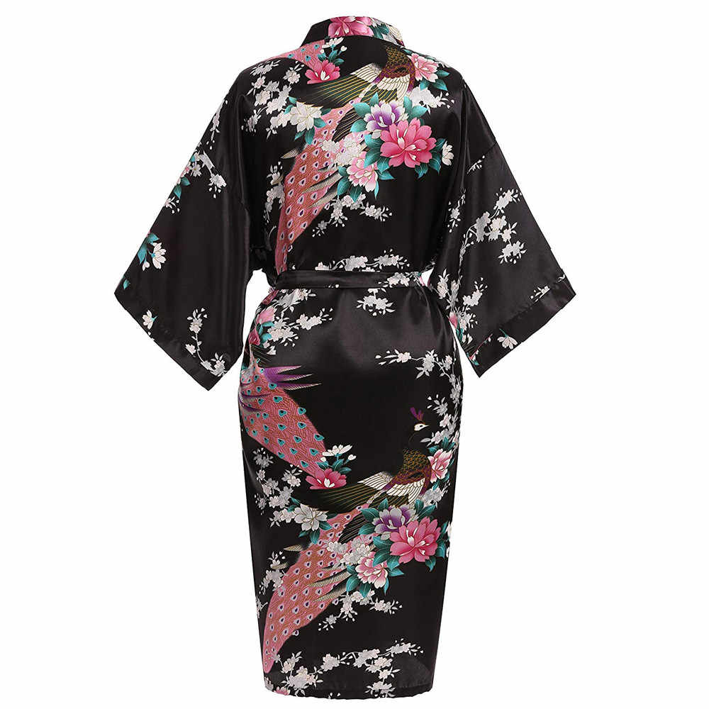 Bata de boda de champán para mujer media manga Sexy ropa de dormir Kimono vestido suelto salón novedad vestido de noche con cinturón