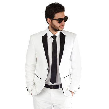 White Prom Dresses Groom Tuxedos Mans Suits For Wedding Mans Dinner Suits Party Suits Custom Made 2 Piece Suits(Jacket+Pants) pink boys suits groom wedding tuxedos page boy formal prom 2 piece kids suits