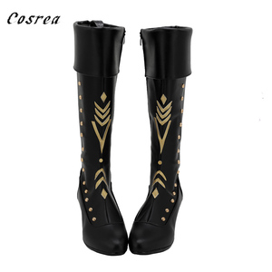 Queen Princess Costume Cosplay Adult Girls Shoes Boots Halloween Prince Boots Boys(China)