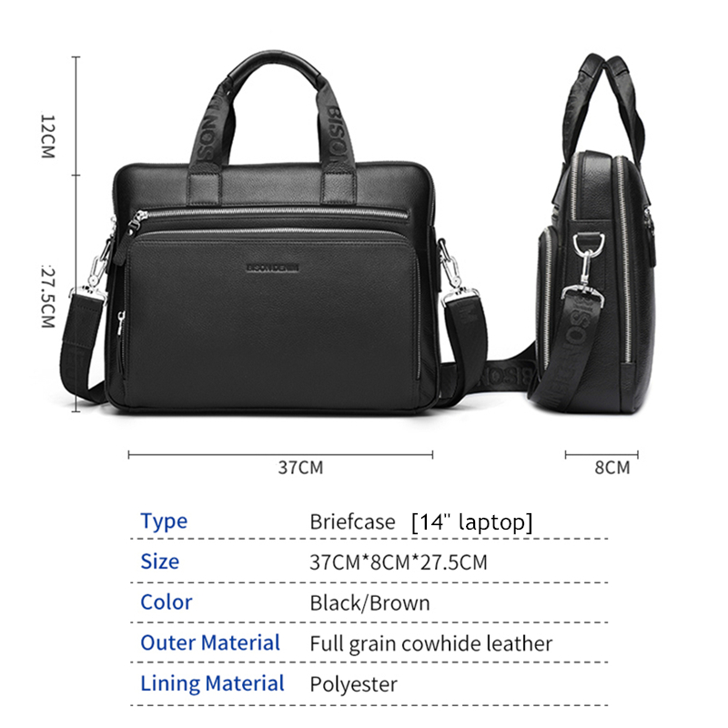 Crossbody N2333-3 Business leather