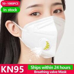 50 ~ 1000 Uds KN95 cara N95 KF94 máscara de protección de la boca de la cubierta del polvo Facial Pm2.5 Ffp3 Fpp2 respirador Facial máscaras de Gas Viru desechable