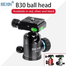 цена на BEXIN Panorama head tripod ballhead mini portable camera ball head CNC machining monopod mount for dslr camera with tripod plate