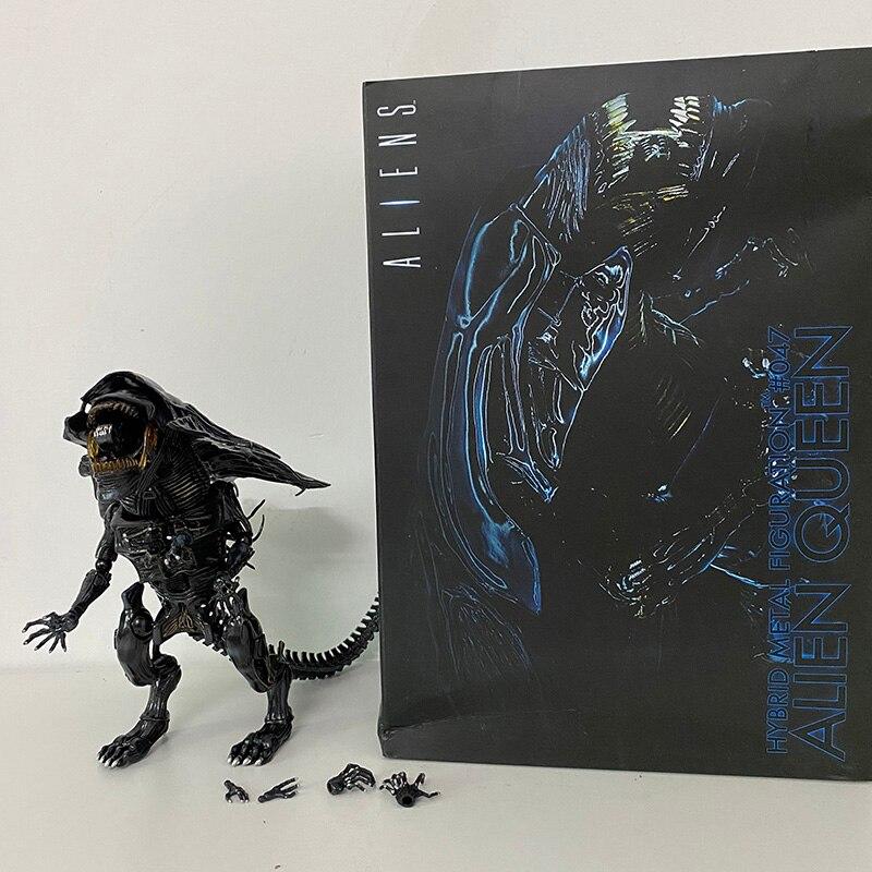 Queen Alien Figure Queen Hybrid Alien Metal Figuration #047 Aliens VS Predator PVC Action Figure Model Toys