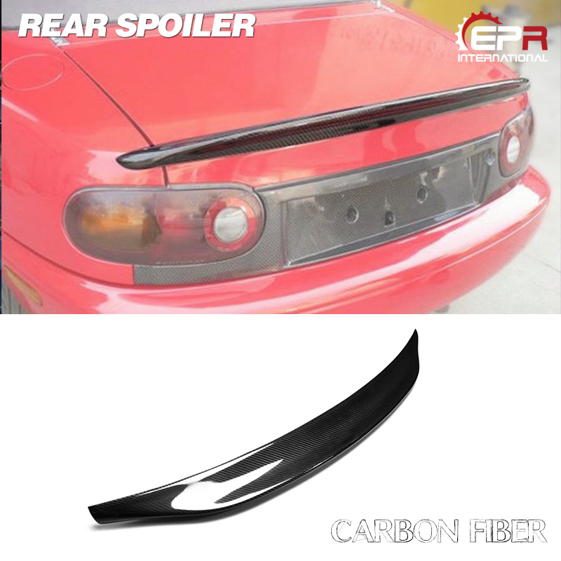 <font><b>MX5</b></font> NA MK1 Miata Type 2 Carbon Fiber Ducktail <font><b>Rear</b></font> <font><b>Spoiler</b></font> For <font><b>Mazda</b></font> Glossy Fiber Trunk Wing Accessories Body Kit image