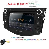 2Din Quad Core Android 10.0 7 Car GPS Navigation For Toyota RAV4 2006 2012 Steering wheel control 4G WIFI DVR BT USB RDS DSP