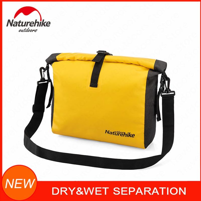 NatureHike Mens Messenger Bag Women Dry Wet Separation Waterproof Bags Camping Swimming Travel Crossbody Satchel Shoulder Bag